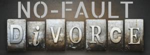 No fault divorce sign