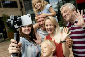 Grandparent and Family happy after mediation
