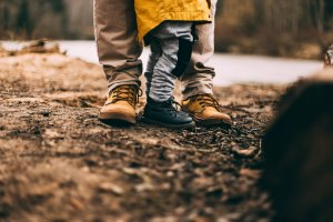 Parenting plan Boots of child and parent