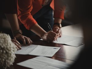 signing a separation agreement