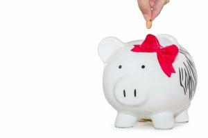 piggy bank saving for spousal maintenance